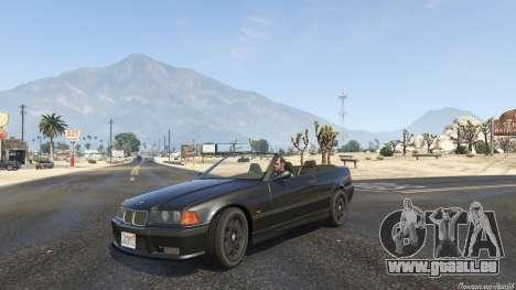 BMW M3 E36 Cabriolet 1997 pour GTA 5