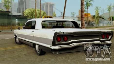 Taxi-Savanna für GTA San Andreas linke Ansicht