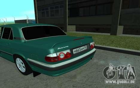 GAZ de 31105 Volga pour GTA San Andreas sur la vue arrière gauche