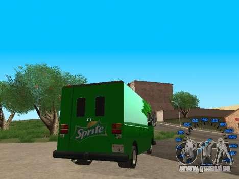 Boxville Sprite pour GTA San Andreas sur la vue arrière gauche