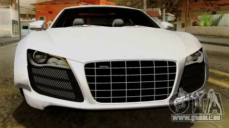Audi R8 v1.0 Edition Liberty Walk pour GTA San Andreas vue de dessous