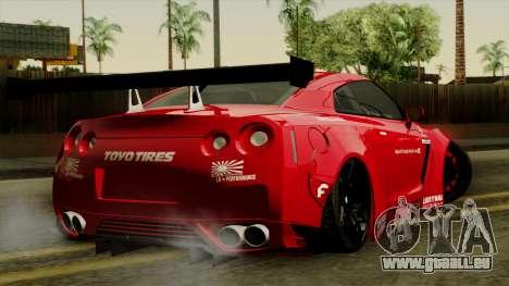 Nissan GT-R Liberty Walk Performance für GTA San Andreas linke Ansicht