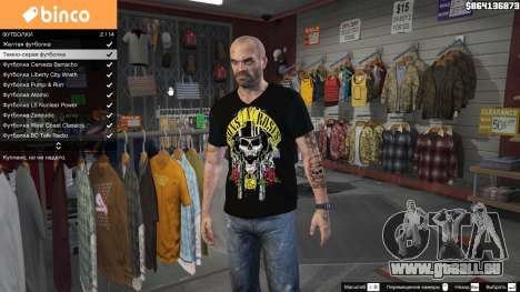 Trevor Guns and Roses Top Hat Shirt für GTA 5