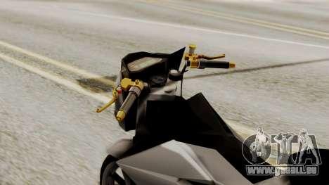 Sonic 150R Custom für GTA San Andreas rechten Ansicht