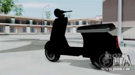 Scooter from Bully für GTA San Andreas linke Ansicht