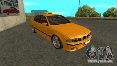 1999 BMW 530d E39 Taxi pour GTA San Andreas laissé vue