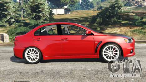 GTA 5 Mitsubishi Lancer Evolution X linke Seitenansicht