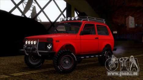 VAZ Niva 2121 Offroad pour GTA San Andreas vue intérieure