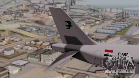 Airbus A320-200 Iraqi Airways pour GTA San Andreas sur la vue arrière gauche