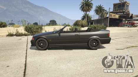 GTA 5 BMW M3 E36 Cabriolet 1997 vue latérale gauche