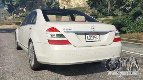 GTA 5 Mercedes-Benz S550 W221 v0.5 [Alpha] hinten links Seitenansicht