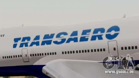 Boeing 747 TransAero pour GTA San Andreas vue arrière