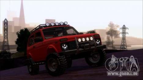 VAZ Niva 2121 Offroad pour GTA San Andreas vue de dessus