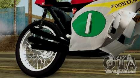 Honda RC166 v2.0 World GP 250 CC für GTA San Andreas rechten Ansicht