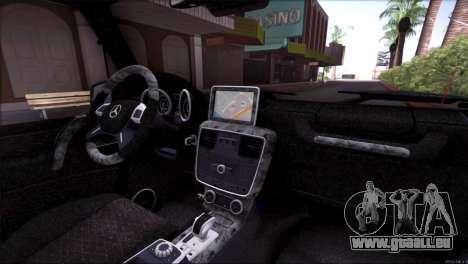Mercedes Benz G65 AMG 2015 Topcar Tuning pour GTA San Andreas salon