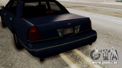 Ford Crown Victoria LP v2 Civil pour GTA San Andreas vue de droite