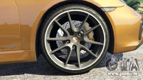 GTA 5 Porsche Boxster GTS arrière droit vue de côté