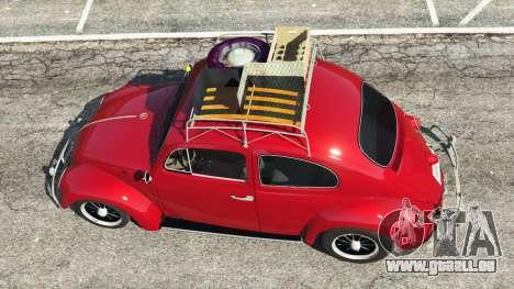 GTA 5 Volkswagen Beetle 1963 [Beta] Rückansicht