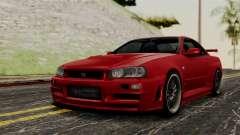 Nissan Skyline GT-R R34 2012 pour GTA San Andreas