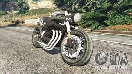 Honda CB 1800 Cafe Racer with Stickers pour GTA 5