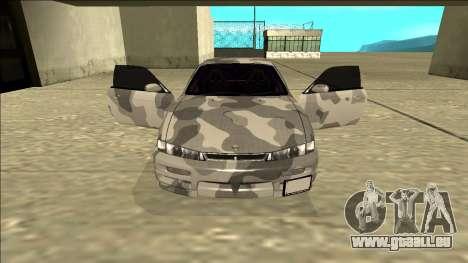 Nissan Silvia S14 Army Drift für GTA San Andreas Innenansicht