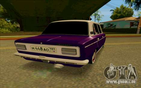 L'aubergine VAZ 2103 pour GTA San Andreas sur la vue arrière gauche