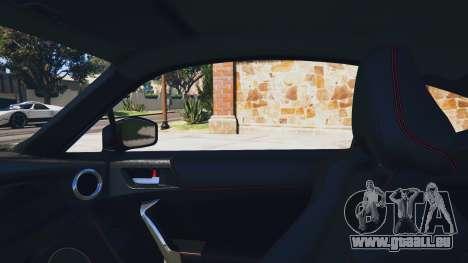GTA 5 Toyota GT-86 Rocket Bunny v1.5 arrière droit vue de côté