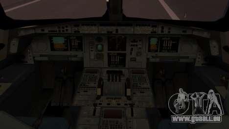 Airbus 350-900XWB Qatar Launch Customer für GTA San Andreas Rückansicht