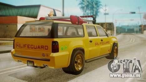 GTA 5 Declasse Granger Lifeguard für GTA San Andreas linke Ansicht