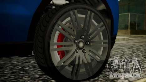 GTA 5 Obey Rocoto IVF pour GTA San Andreas sur la vue arrière gauche