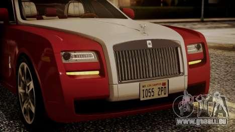 Rolls-Royce Ghost v1 pour GTA San Andreas vue de côté