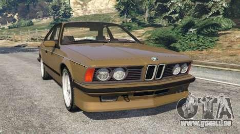 BMW M635 CSI (E24) 1986 pour GTA 5