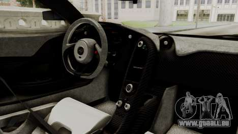 McLaren P1 GTR v1.0 pour GTA San Andreas vue de droite