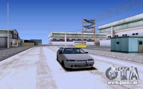 2114 Turbo pour GTA San Andreas vue arrière