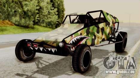 Buggy Camo Shark Mouth für GTA San Andreas