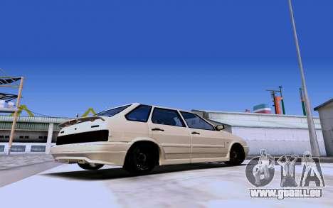 2114 Turbo pour GTA San Andreas sur la vue arrière gauche