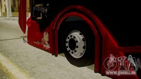 Bus Iron Man für GTA San Andreas zurück linke Ansicht