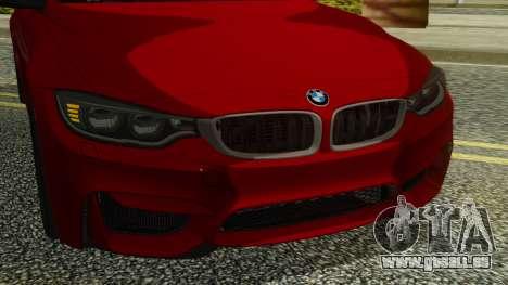 BMW M4 Coupe 2015 pour GTA San Andreas vue intérieure