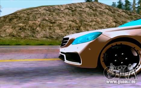 Mercedes-Benz E63 AMG für GTA San Andreas Rückansicht