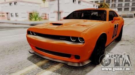 Dodge Challenger SRT Hellcat 2015 HQLM pour GTA San Andreas roue