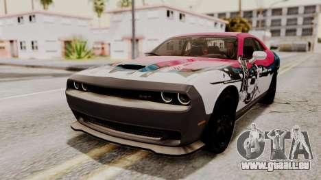 Dodge Challenger SRT Hellcat 2015 HQLM pour GTA San Andreas vue intérieure