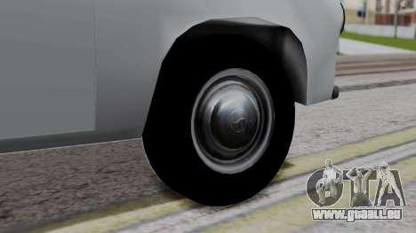 Syrena R20 v1.0 pour GTA San Andreas sur la vue arrière gauche