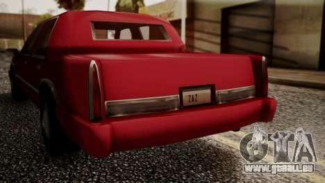 Stretch Sedan für GTA San Andreas zurück linke Ansicht