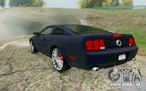 Ford Mustang GT 2005 für GTA San Andreas zurück linke Ansicht