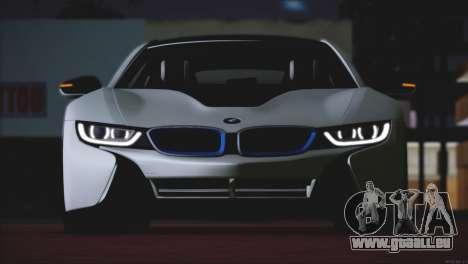 BMW i8 Coupe 2015 pour GTA San Andreas vue arrière