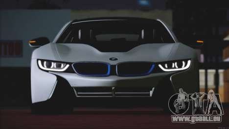 BMW i8 Coupe 2015 für GTA San Andreas Rückansicht