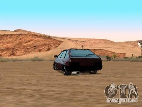 VAZ 2109 pour GTA San Andreas sur la vue arrière gauche