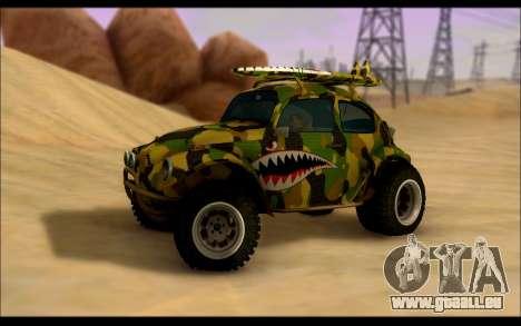Volkswagen Baja Buggy Camo Shark Mouth pour GTA San Andreas