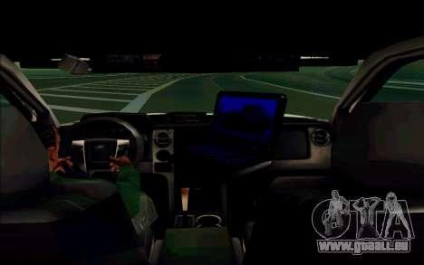 Ford F150 2015 Towtruck für GTA San Andreas Rückansicht