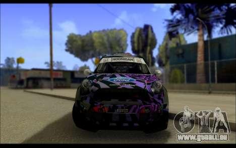 Mini Cooper Gymkhana 6 with Drift Handling pour GTA San Andreas vue intérieure